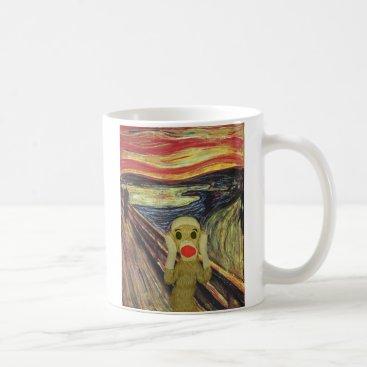SockMonkeyCentral Sock Monkey Scream mug