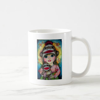 Sock Monkey See, Monkey Do Design Mugs