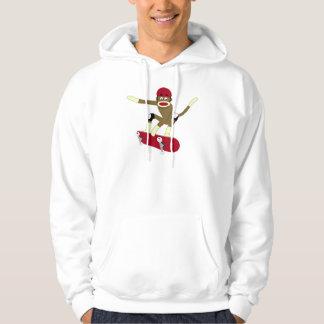 Sock Monkey Skateboarder Hoodie