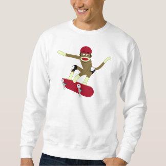 Sock Monkey Skateboarder Sweatshirt