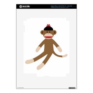sock monkey iPad 3 skins