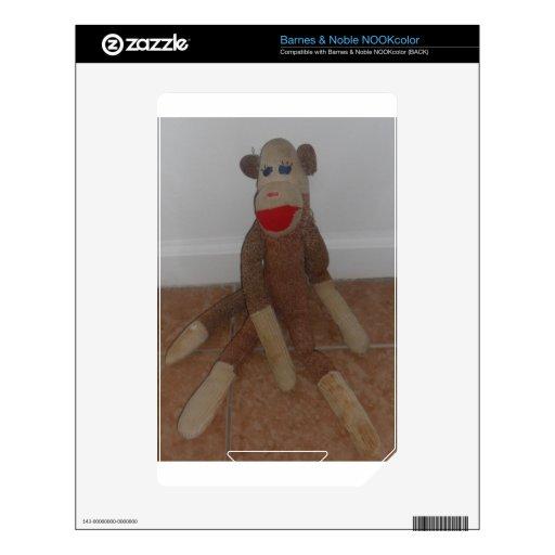 Sock Monkey Skins For NOOK Color