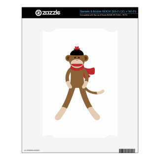 sock monkey decals for the NOOK