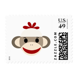 Sock Monkey Small $0.49 postage stamp