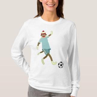 Sock Monkey Soccer Player T-Shirt