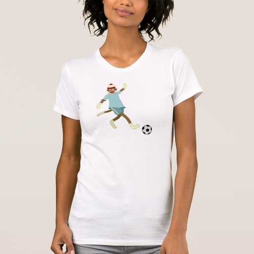 Sock Monkey Soccer Player Tee Shirt