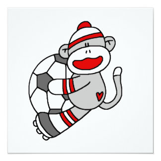 Sock Monkey Soccer T shirts and Gifts Card
