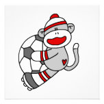 Sock Monkey Soccer T shirts and Gifts Invitations
