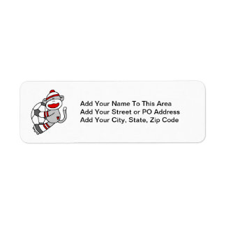 Sock Monkey Soccer T shirts and Gifts Return Address Labels