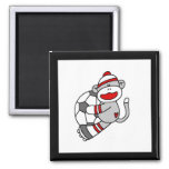 Sock Monkey Soccer Tshirts and Gifts Magnets
