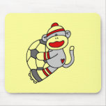Sock Monkey Soccer Tshirts and Gifts Mouse Pads
