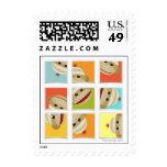 Sock Monkey Socks Blocks by Kelly Schwark Postage Stamps
