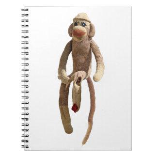 Sock Monkey Spiral Notebooks