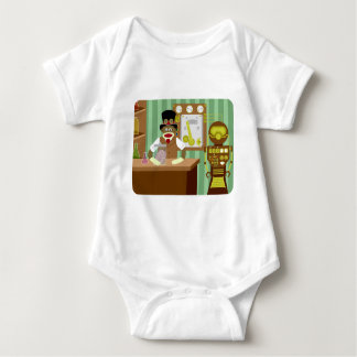Sock Monkey Steampunk Scientist Baby Bodysuit