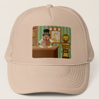 Sock Monkey Steampunk Scientist Trucker Hat