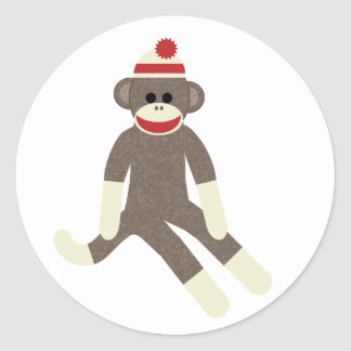 Sock monkey sticker