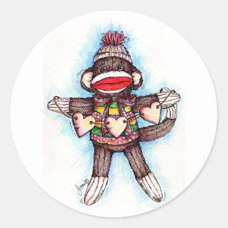 Sock Monkey Stickers - Monkey Business