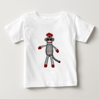Sock monkey Sugar Skull Day of the Dead Baby T-Shirt