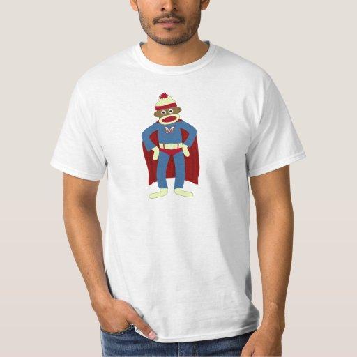Sock Monkey Superhero Tees