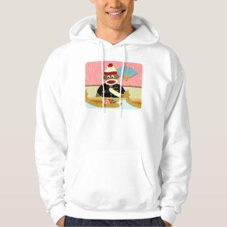 Sock Monkey Sushi Hoodie