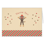 Sock Monkey Thank You Card
