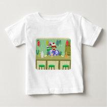 Sock Monkey Tiki Bar Baby T-Shirt