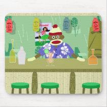 Sock Monkey Tiki Bar Mouse Pad