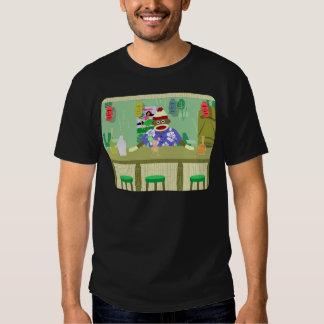 Sock Monkey Tiki Bar T-shirts