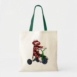 Sock Monkey Tricycle Tote Bag