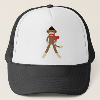 sock monkey trucker hat