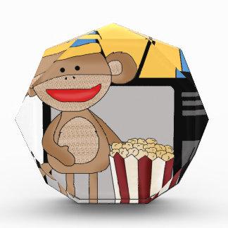 Sock monkey tv acrylic award