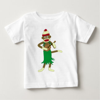 Sock Monkey Ukulele Baby T-Shirt