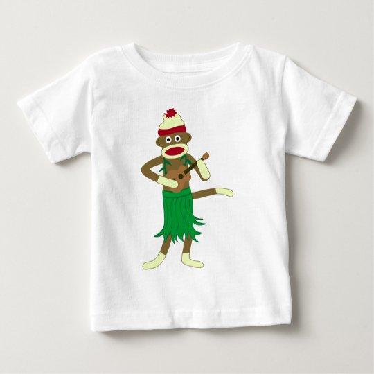 Sock Monkey Ukulele Baby T-Shirt
