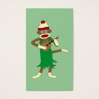 Sock Monkey Ukulele Business Card