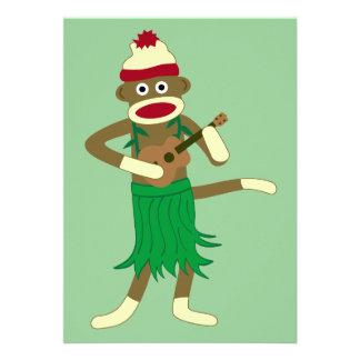 Sock Monkey Ukulele Invites