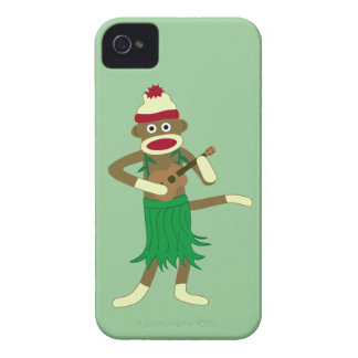 Sock Monkey Ukulele iPhone 4 Cover