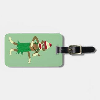 Sock Monkey Ukulele Luggage Tag
