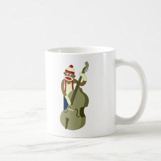 Sock Monkey Upright Bass Player Coffee Mug