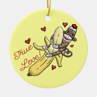 Sock Monkey Valentine Door Hanger ornament