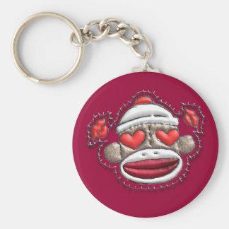 Sock Monkey Valentine Merchandise Keychain