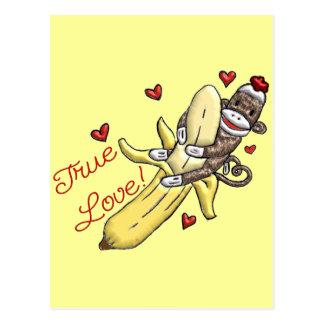 Sock Monkey Valentine Merchandise Post Card