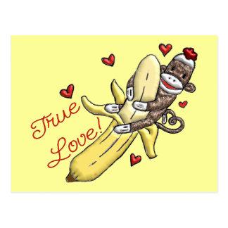Sock Monkey Valentine Merchandise Postcards