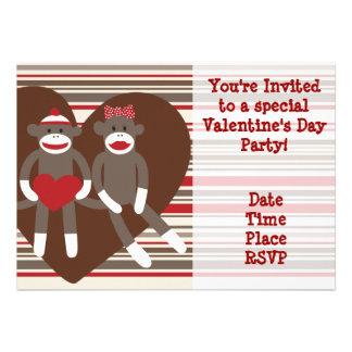 Sock Monkey Valentine s Day Party Invitations