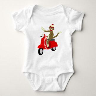 Sock Monkey Vespa Scooter Infant Creeper