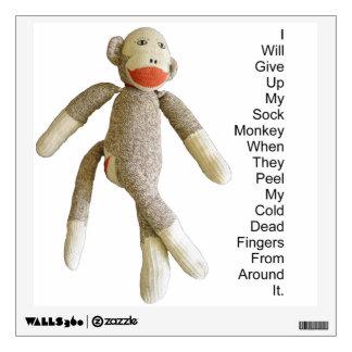 Sock Monkey Wall Sticker