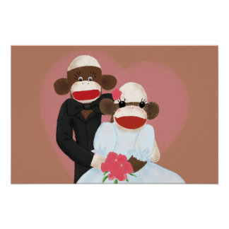 Sock Monkey Wedding(Bowty & Violet) Poster