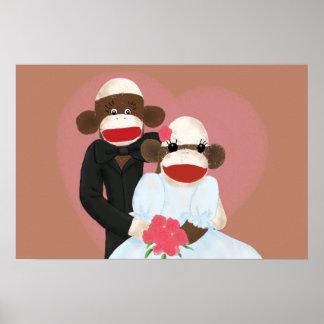 Sock Monkey Wedding(Bowty & Violet) Poster