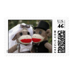 Sock Monkey Wedding Stamps