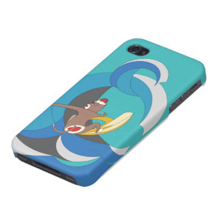 Sock Monkey went Surfing Bananas iPhone 4/4S Covers