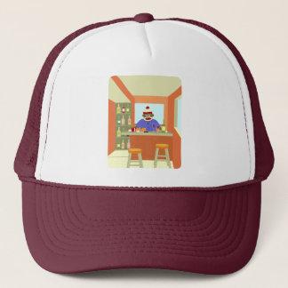 Sock Monkey Wine Taster Trucker Hat